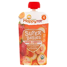 Happy Tot Organics Stage 4 Bananas Carrots & Strawberries Baby Food, 4 Ounce