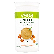 Vega Drink Mix Caramel Toffee Flavored, 9.1 Ounce