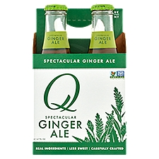 Q Drinks Spectacular Ginger Ale Beer - 4 Pack, 26.8 Fluid ounce
