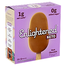 Enlightened Keto Collection Dark Chocolate Ice Cream Bars, 4 ct, 15 Fluid ounce
