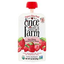 Once Upon A Farm Organic Sun Shiny Strawberry Baby Food, 3.5 Ounce