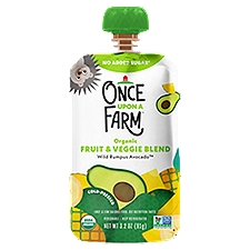 Once Upon A Farm Organic Wild Rumpus Avocado Baby Food, 3.5 Ounce