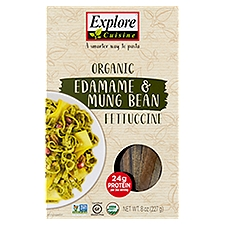 Explore Cuisine Organic Edamame & Mung Bean Fettuccine, 8 Ounce
