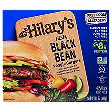 Hilary's Veggie Burger, Fiesta Black Bean, 11 Ounce