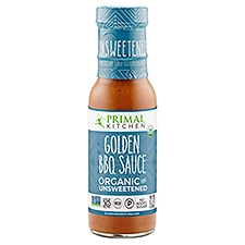 Primal Kitchen BBQ Sauce, Organic and Unsweetened Golden, 8.5 Ounce