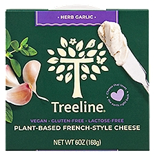 Treeline Cheese, Herb Garlic Plant-Based French-Style, 6 Ounce