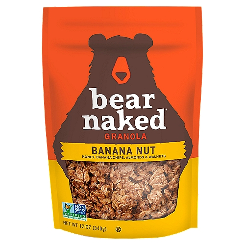 Approved by Bears Every bag of Granola starts with us foraging for Irresistible flavors and bountiful chunks of goodness. This soft-baked Granola is made with Whole Grain oats, honey, bananas and a healthy helping of almonds and walnuts with a taste so Craveable you'll want to maul the bag. So, next time your stomach growls, grab a pawful of Bear Naked Granola. The Bear Naked Bears