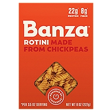 Banza Pasta, Rotini Made from Chickpeas, 8 Ounce