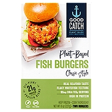 Good Catch Fish Burgers Classic Style Plant-Based, 2 Each