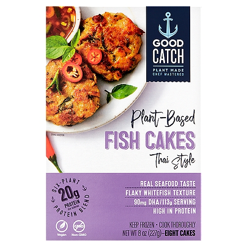 Good Catch Thai Style Plant-Based Fish Cakes, 8 count, 8 oz