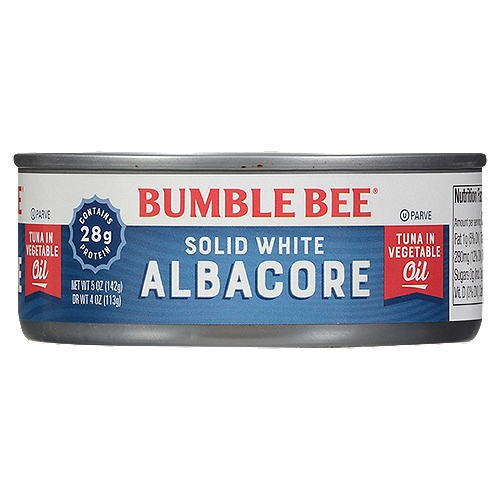 Now Non-GMO Project Verified. Perfect for all your tuna recipes. This hand-select, wild caught solid white albacore, packed in vegetable oil, is our firmest, whitest, best Albacore ever.