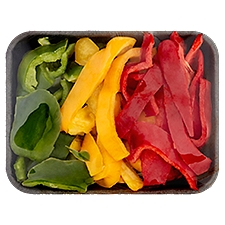 Supreme Cuts Green, Yellow & Red Peppers - Sliced, 16 Ounce