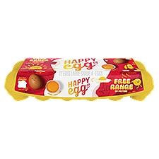 Happy Egg Co Eggs Large Brown Free Range Grade A, 12 Each
