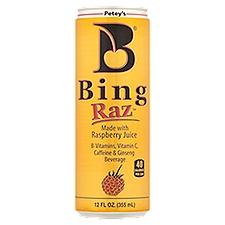 Petey's Bing Raz Energy Drink, 12 Fluid ounce
