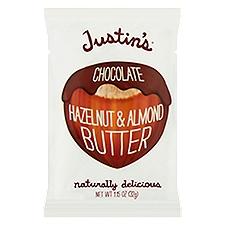Justins Nut Butters Chocolate Hazelnut Butter, 1.15 Fluid ounce