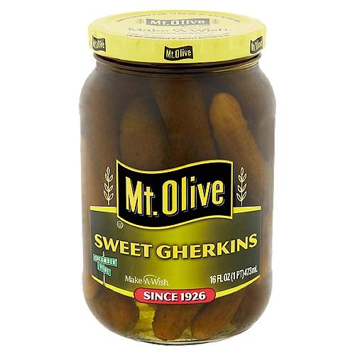 Mt. Olive Sweet Gherkins, 16 fl oz