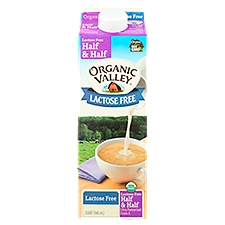 Organic Valley Lactose Free Half & Half, 32 Fluid ounce
