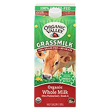 Organic Valley Grassmilk Organic Whole Milk, 64 Fluid ounce