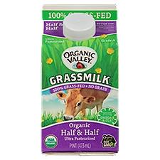 Organic Valley Grassmilk Half & Half, 15.99 Fluid ounce