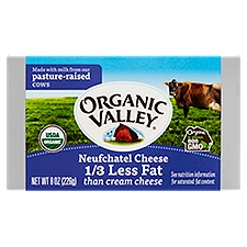 Organic Valley Cheese, Neufchatel, 8 Ounce
