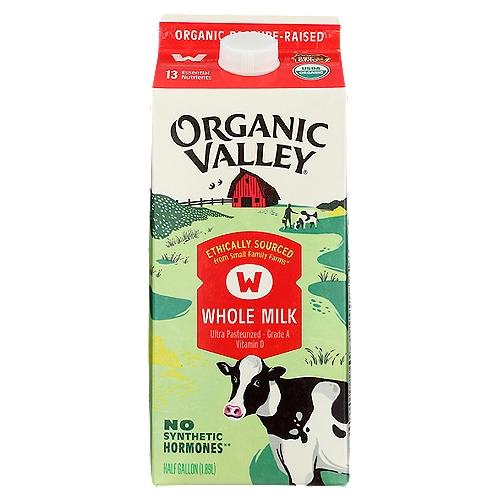 Pasture-Raised; Grade A; Vitamin D; Ultra Pasteurized; USDA Organic