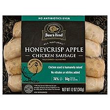 Boar's Head All Natural Honey Crisp Apple Chicken Sausage, 12 Ounce