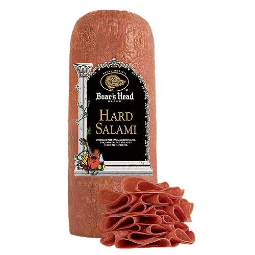 """Gluten Free. Milk Free. No MSG Added. Delicious pork and beef salami. Scrumptious in sandwiches or cubed with cheese. Freshly sliced at your Deli counter. Product slicing options include """"Standard Thickness, Shaved, Sliced Thin or Sliced Thick""""."""