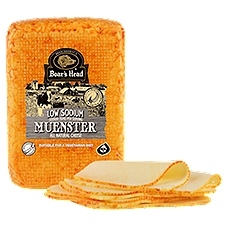Boar's Head Low Sodium Muenster Cheese, 1 Pound