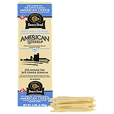 Boar's Head Lower Fat & Sodium White American Cheese, 1 Pound