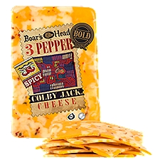 Boar's Head Bold 3 Pepper Colby Jack Cheese, 1 Pound